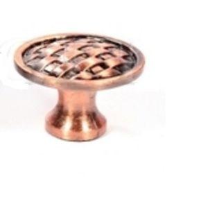 Ручка кнопка мебельная KL-346 AC (медь)