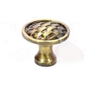 Ручка кнопка мебельная KL-346 AB (бронза)