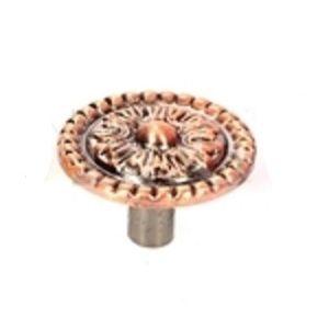 Ручка кнопка мебельная KL-348 AC (медь)