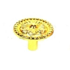 Ручка кнопка мебельная KL-348 PB (золото)
