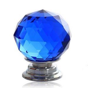 Ручка мебельная KL-1006 Ф30 (синий/хром)