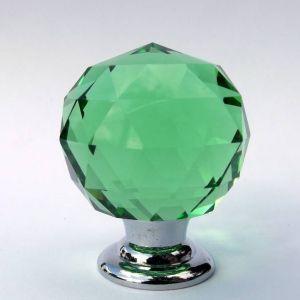 Ручка мебельная KL-1006 Ф30 (зелёный/хром)