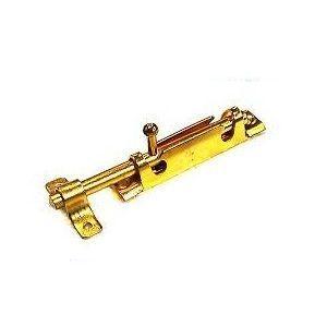 Шпингалет KL-27-BIG PB (золото) 105 мм