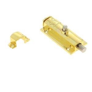 Шпингалет KL-600 PB (золото)(10) 75 мм с ответкой
