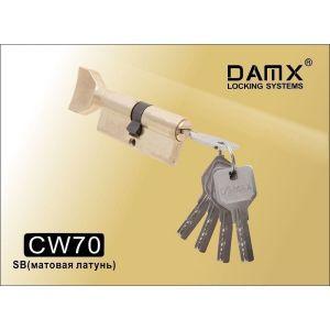 Цилиндровый механизм DAMX CW70 SB перфо ключ-вертушка матовая латунь