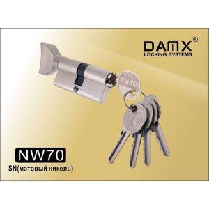 Цилиндровый механизм DAMX NW70 SN ключ-вертушка матовый никель