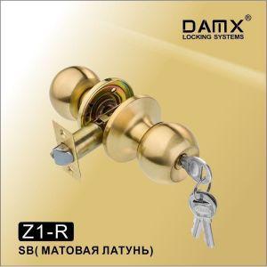 Ручка-защелка DAMX Z1-R SB с ключом матовая латунь