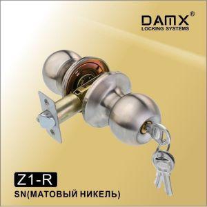 Ручка-защелка DAMX Z1-R SN с ключом матовый никель