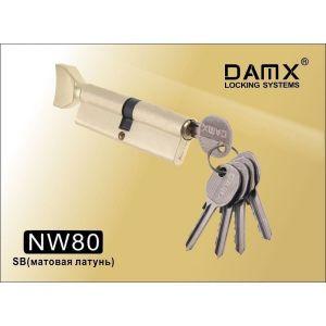 Цилиндровый механизм DAMX NW80 SB ключ-вертушка матовая латунь