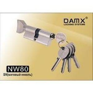 Цилиндровый механизм обычный ключ-вертушка NW80mm DOMAX SN матовый никель