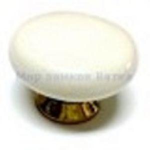 Ручка кнопка мебельная KL-41 WW (белый)