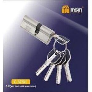 Цилиндровый механизм перфо. ключ-ключ С37/31mm SN матовый никель
