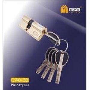 Цилиндровый механизм перфо. ключ-ключ С40/30mm PB полированная латунь