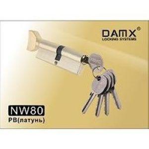 Цилиндровый механизм обычный ключ-вертушка NW80mm DOMAX PB полированная латунь