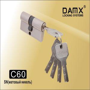 Цилиндровый механизм перфо ключ-ключ C60 DAMX SN матовый никель
