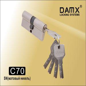 Цилиндровый механизм перфо ключ-ключ C70 DAMX SN матовый никель