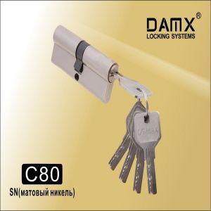Цилиндровый механизм перфо ключ-ключ C80 DAMX SN матовый никель