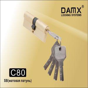 Цилиндровый механизм перфо ключ-ключ C80 DAMX PB латунь