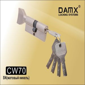 Цилиндровый механизм перфо ключ-вертушка CW70 DAMX  SN  матовый никель