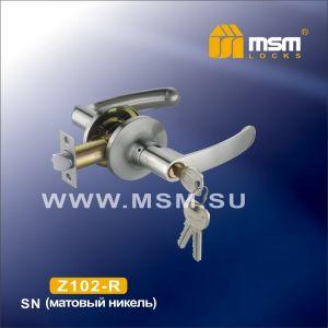 Ручка-защелка  c ключом Z102-R MSM SN (матовый никель)