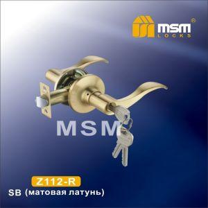 Ручка защелка c ключом Z112-R MSM SB (матовая латунь)