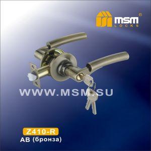 Ручка-защелка DAMX Z1-R AB с ключом бронза