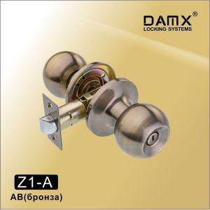 Ручка защелка c фиксатором Z1-A DAMX AC (медь)