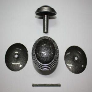 Ручка кнопка РК-1 тип 2 антик серебро