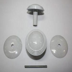 Ручка кнопка РК-1 тип 2 белое серебро
