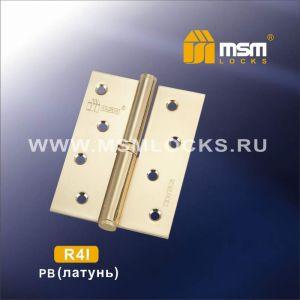 Петля съемная MSM 100мм R4I PB (комлект 2шт.) правая полированная латунь