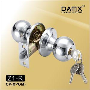 Ручка защелка c ключом Z1-R DAMX CP (серебро)