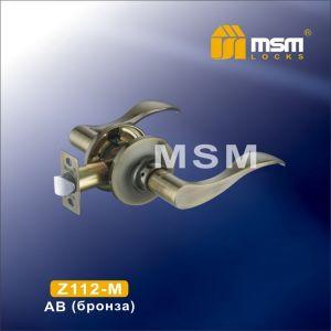 Ручка защелка c ключом Z112-R MSM AB (бронза)