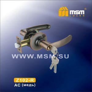 Ручка защелка c ключом Z102-R MSM AC (медь)