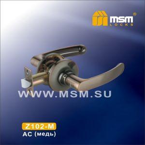 Ручка защелка пустышка  Z102-M MSM AC (медь)
