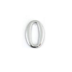 Дверной номерок  0 (малый) серебро