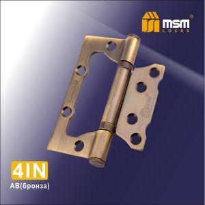 Петля универсальная MSM 100мм 4I (комлект 2шт.)  MBR  мат.коричневый