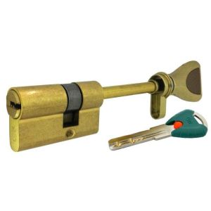 """Цилиндровый механизм КРИТ """"PERFO"""" Р-238(90)-Лп ключ-вертушка латунь полир."""
