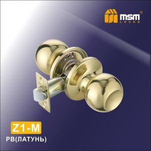 Ручка защелка пустышка  Z1-M PB DAMX (латунь)