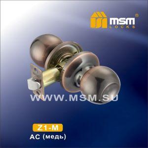 Ручка защелка пустышка  Z1-M AC DAMX (медь)