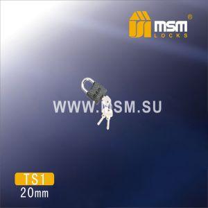 Замок навесной MSM TS1-20