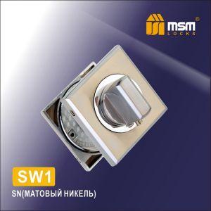 Накладки под фиксатор квадратная  MSM SW1 SN (матовый никель)