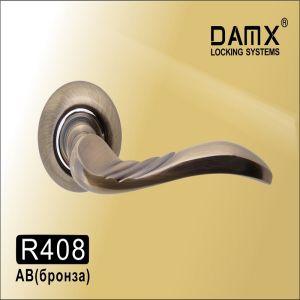 Ручки на кругл. накладке R408 AB ( бронза)