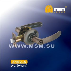 Ручка защелка c фиксатором Z102-A MSM AC (медь)