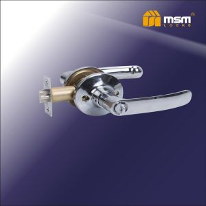 Ручка защелка c фиксатором Z102-A MSM CP (хром)