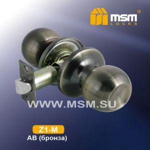 Ручка защелка пустышка  Z1-M MSM AB (бронза)