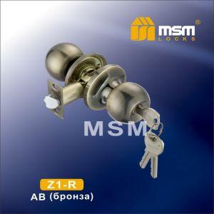 Ручка защелка c ключом Z1-R MSM AB (бронза)