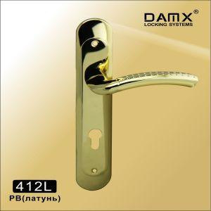 Ручка на планке 412L PB DAMX (85mm) латунь