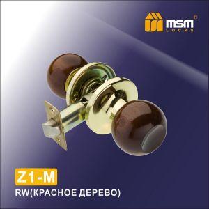 Ручка защелка пустышка  Z1-M RW MSM (красное дерево)