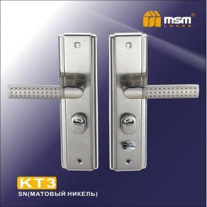 Ручка универс. MSM KT3 SN матовый никель  для стальных кит. дверей (комплект)