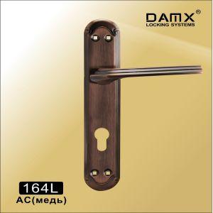 Ручка на планке 164L AC DAMX (85mm) под 4 винта медь
